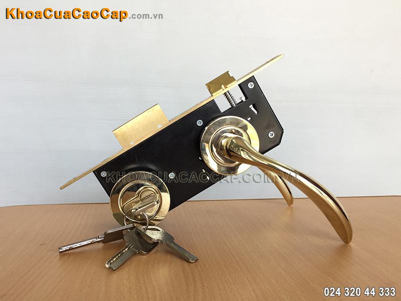 Khóa cửa tay gạt ốp rời Việt Tiệp 04088