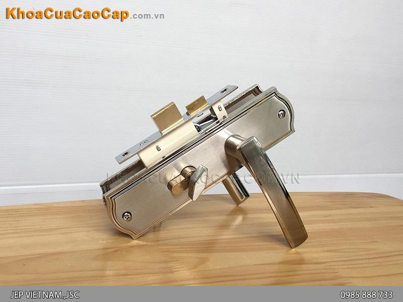 Khóa tay gạt cửa gỗ Việt Tiệp 04504
